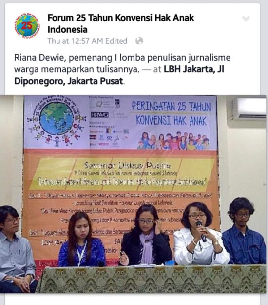 Pemenang Lomba Menulis Hari Anak Internasional
