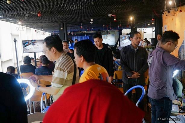 Suasana peluncuran laptop HP Spectre x360 di Jogja (Dok.Pri)