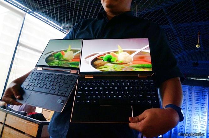 Perbedaan ketajaman layar laptop HP Spectre x360 dengan laptop merk pesaing