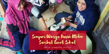 Senyum Warga Dusun Klidon Sambut Event Sehat Jogja Sinergy Office
