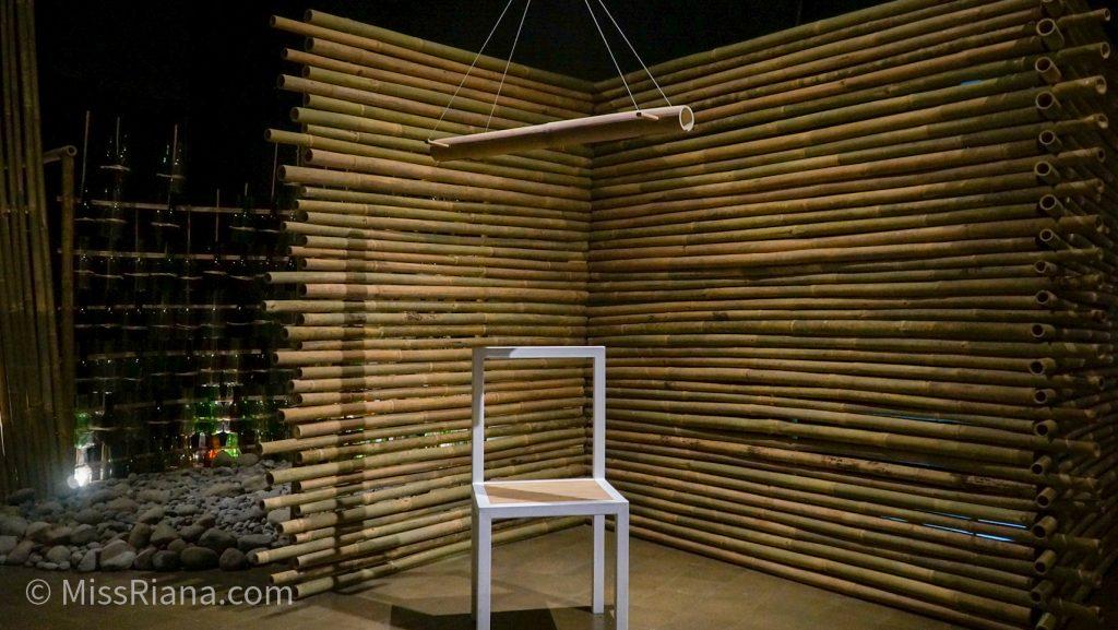 Karya seniman Artjog dari bambu (dok. Riana Dewie)