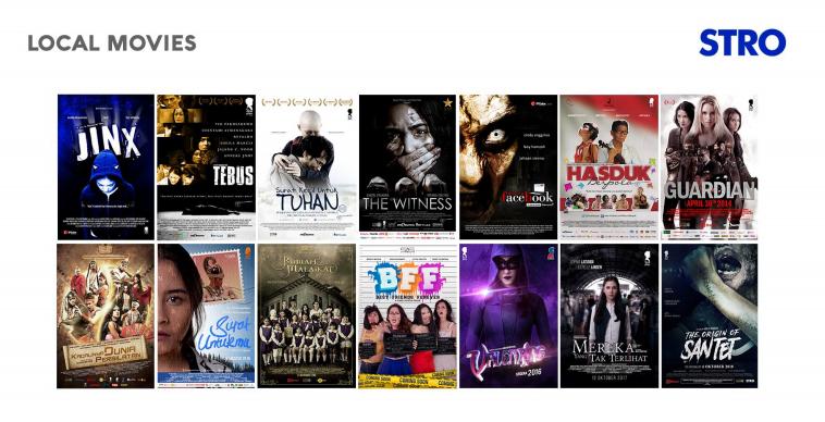 Beberapa Pilihan film lokal di STRO