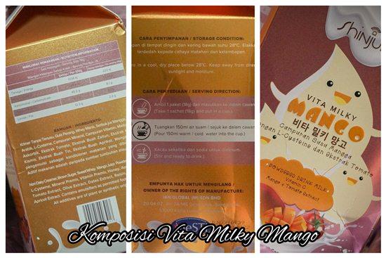Komposisi Vita Milky Mango