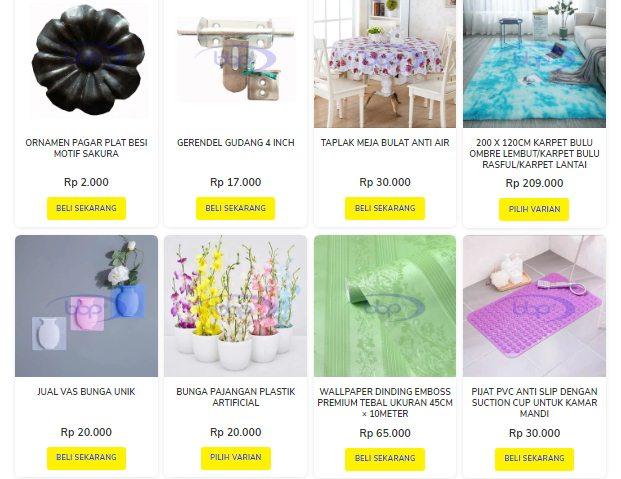 Inilah Toko online peralatan rumah tangga