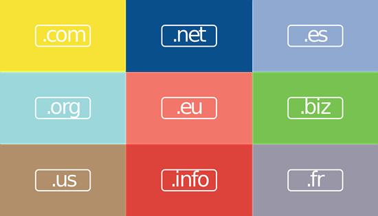 Pilihan ekstensi domain untuk blog