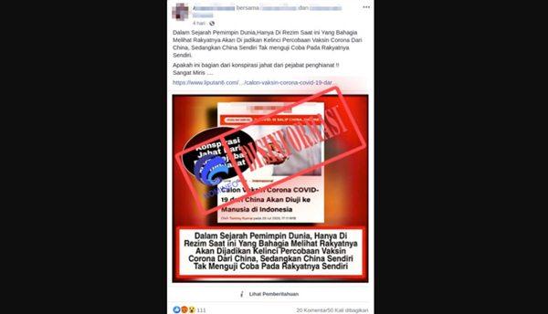 contoh berita hoax yang meresahkan